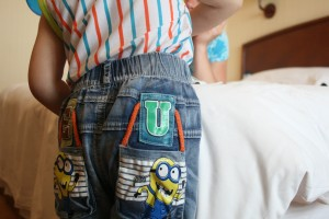 A close up of the minions.