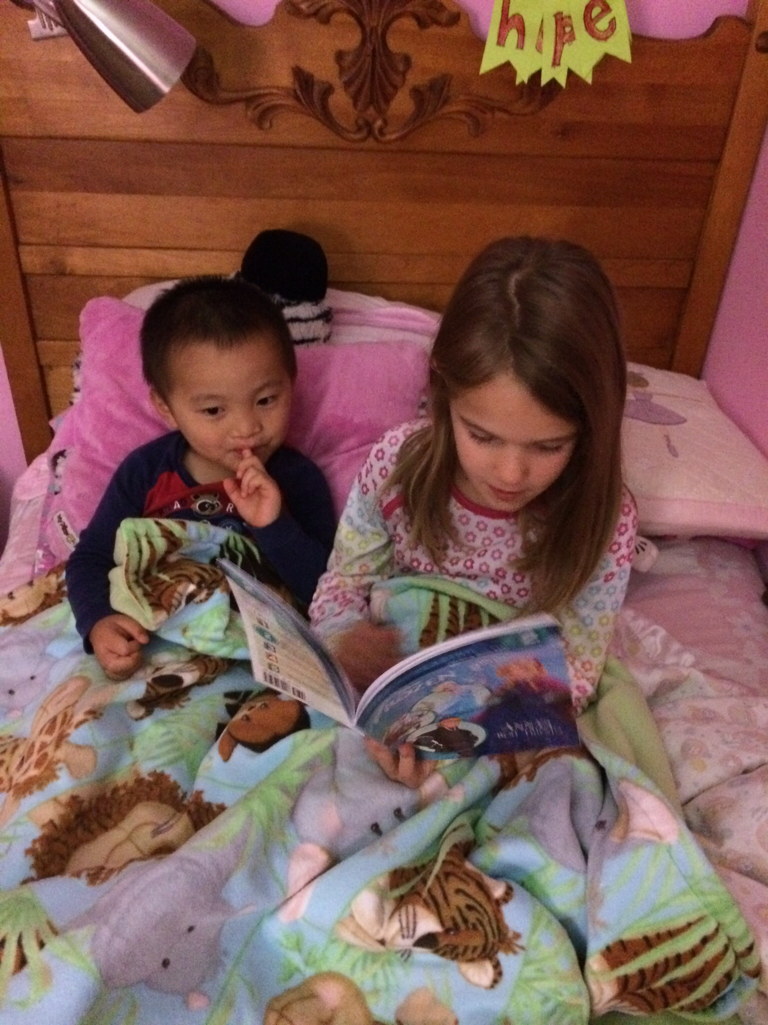 She sacrificed me reading to her because XS asked her to read him one more book before bed.