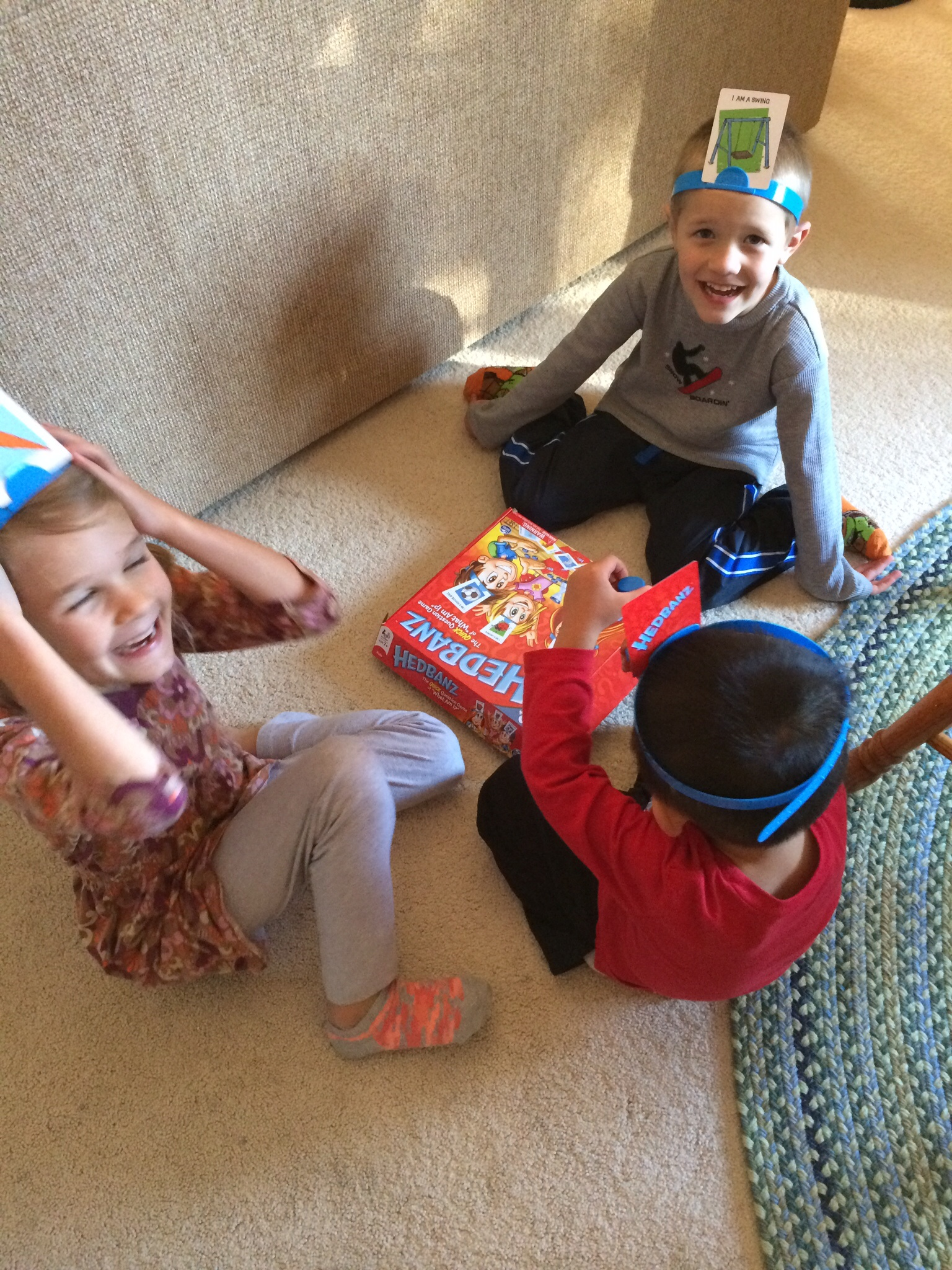 HEADBANDS! Perfect game to play with a kid learning English:)